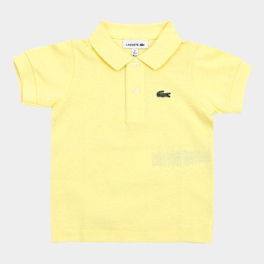 4ed1b115a74 Camisa Polo Infantil Lacoste Masculina - Amarelo - Compre Agora ...