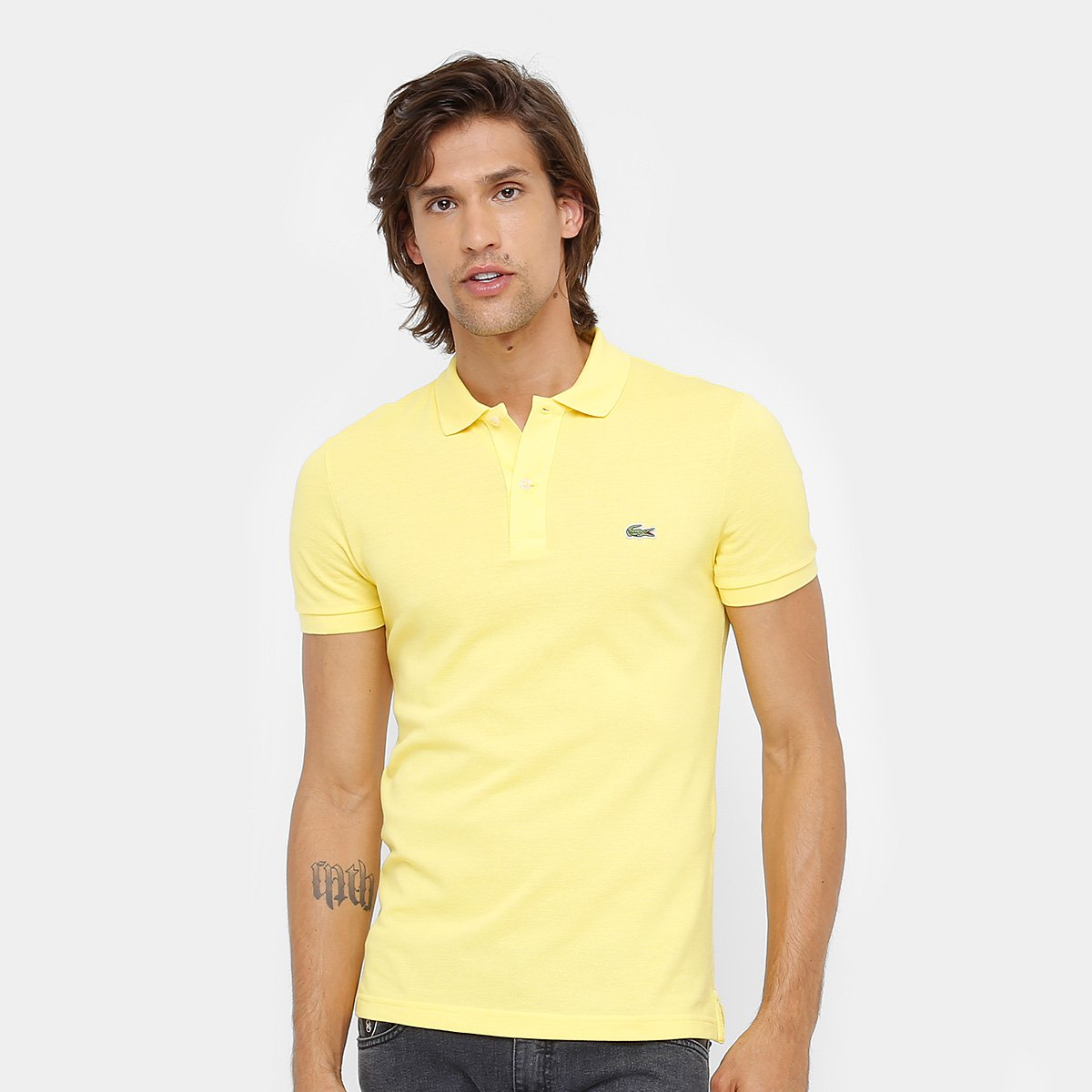 5daab71be6 Camisa Polo Lacoste Piquet Slim Fit Masculina