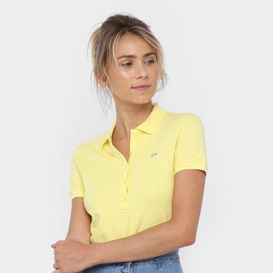 Camisa Polo Lacoste Logo Feminina - Compre Agora   Netshoes a3d9bdf434