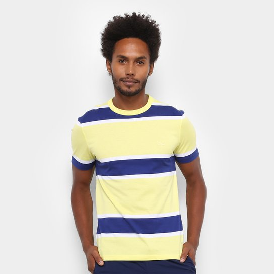 Camiseta Lacoste Listras Masculina - Compre Agora   Netshoes 4bee55aaf9