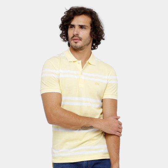 9961dcbe2ac Camisa Polo Lacoste Piquet Listrada Masculina - Amarelo - Compre ...