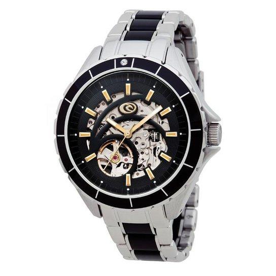 27d7f8bd160 Relógio De Pulso Ripcurl Hampton Sss Auto - Aço - Prata e Preto ...