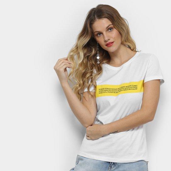 fef9e96a9d Camiseta Calvin Klein  MyCalvins Feminina - Amarelo