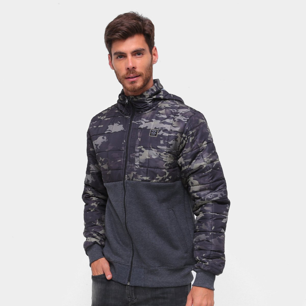 Jaqueta Billabong Boundary Zip Masculina