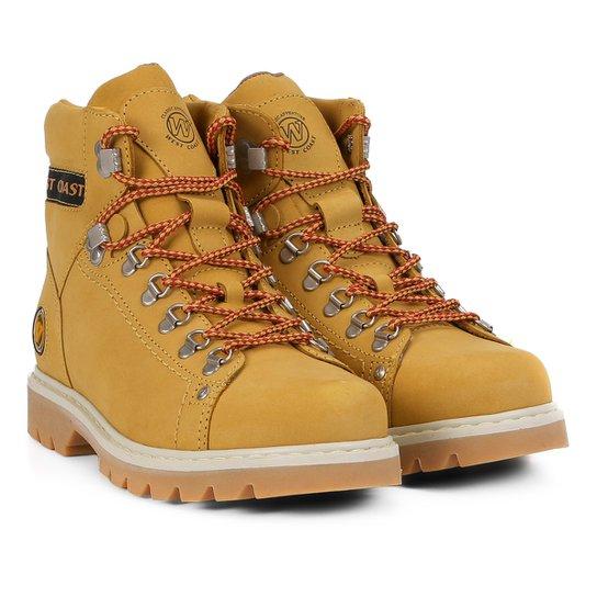 8636c88acc Bota Couro Coturno West Coast Worker Masculina - Amarelo - Compre ...