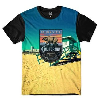 Camiseta Long Beach California Venice Sublimada Masculina 871ba6e7656