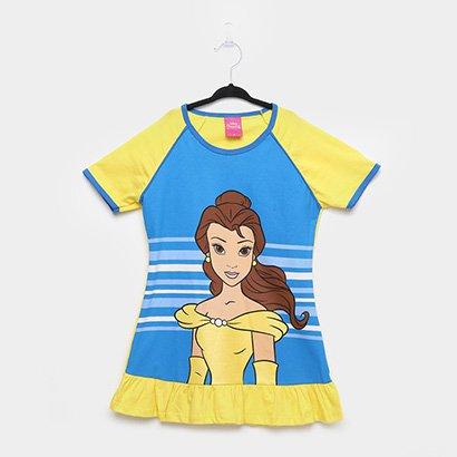 Camisola Infantil Disney Princesas Manga Curta