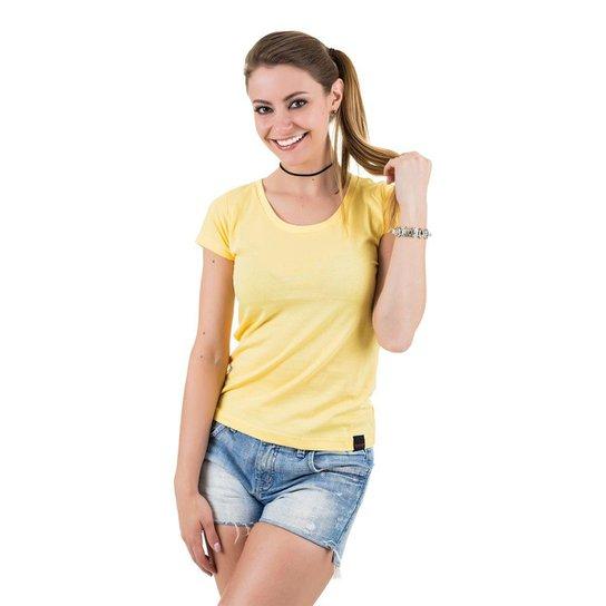 27a30dbba7 Camiseta Básica Feminina - Amarelo - Compre Agora