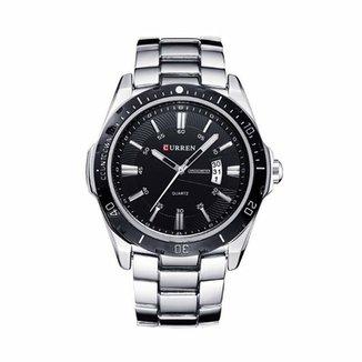 cd5c02eede4 Relógio Curren Analógico 8110 Prata e Preto