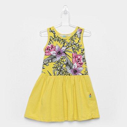 Vestido Infantil Bee Loop Regata Evasê Floral