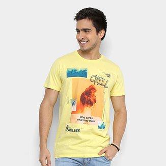 33838cbd1 Camiseta Colcci Chill Vaporwave Masculina