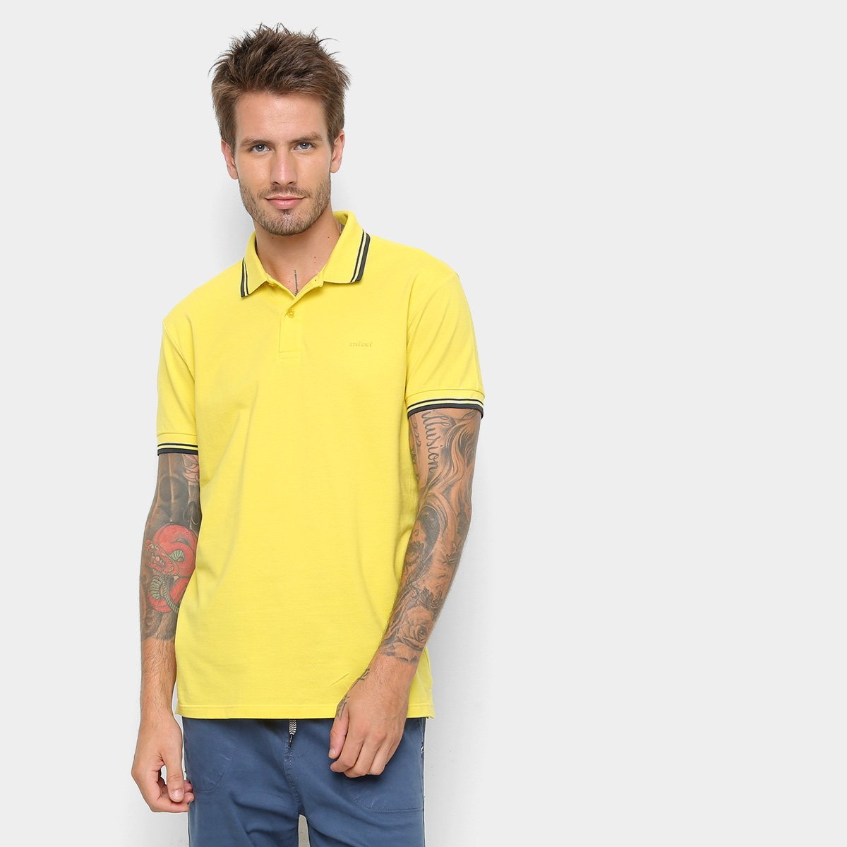 8daf7b2b0 Camisa Polo Colcci Básica Masculina