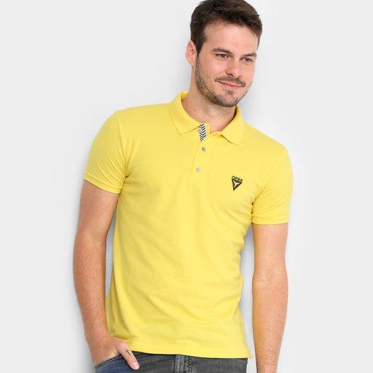 1b0f9859a5a Camisa Polo Opera Rock Piquet Logo Bordado Masculina - Amarelo ...