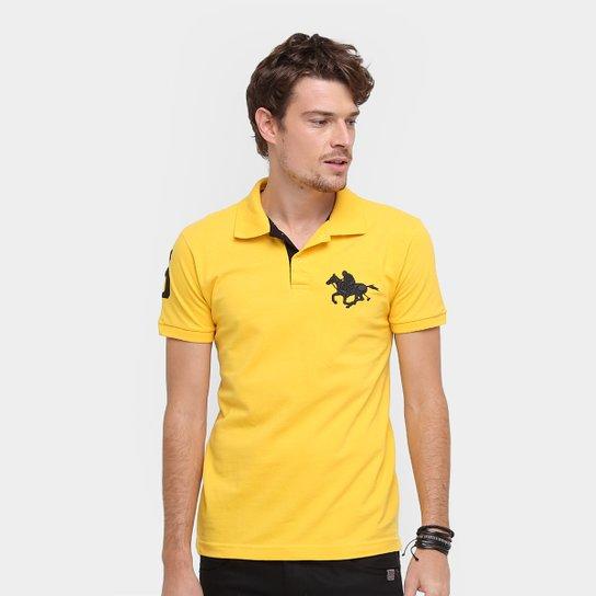 18c44546f3 Camisa Polo RG 518 Piquet Básica Masculina - Amarelo - Compre Agora ...
