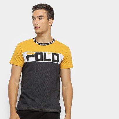 Camiseta Polo Rg 518 Malha Pontos Masculina