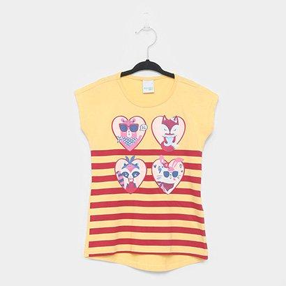 Blusa Infantil Malwee Ampla Estampada Feminina