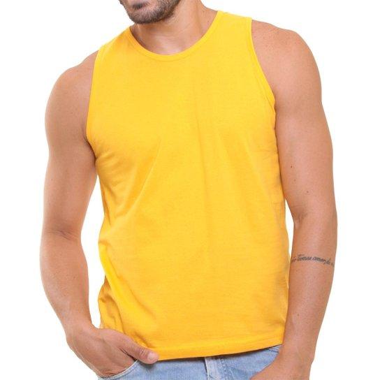 Camiseta Regata Masculina Oitavo Ato Lisa Básica Mescla - Amarelo ... 0b52635a651