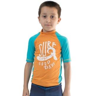 Camiseta Infantil De Lycra Manga Curta Comfy Surf Masculino ac6053942dafe
