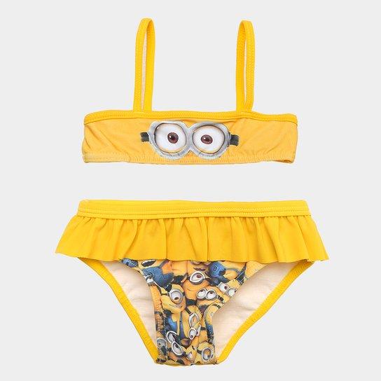 7f2b5e53c Conjunto de Biquíni Infantil Tip Top Minions Feminino - Amarelo