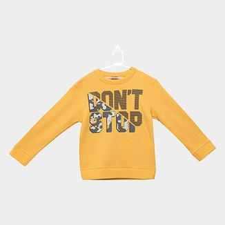 ce786b2c8b Blusão em Moletom Infantil Kyly Don t Stop Masculino