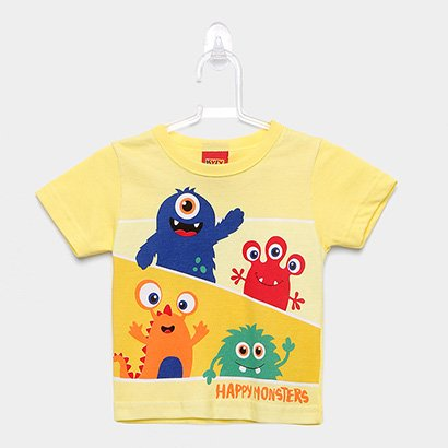 Camiseta Infantil Kyly Monstrinhos Felizes Masculina