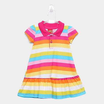Vestido Infantil Kyly Listras