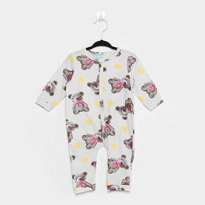 Pijama Infantil Macacão Kyly Ursinhos Feminino