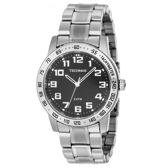 291ea1c2c86 Relógio Technos Racer - Prata e Preto - Compre Agora