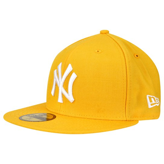 Boné New Era 5950 MLB Basic Colors New York Yankees - Amarelo ... 6ca25270766