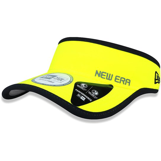 Viseira New Era Piping - Amarelo e Preto - Compre Agora  4a093a6114e