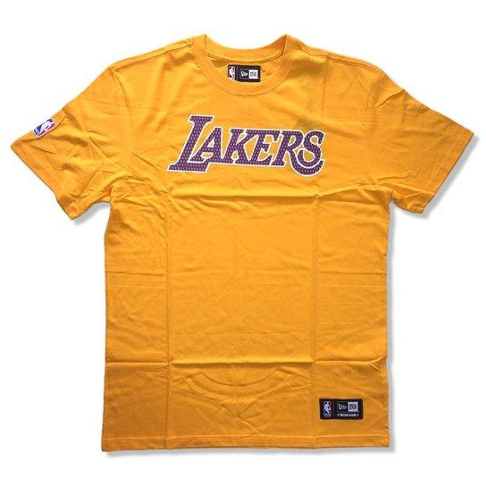Camiseta Los Angeles Lakers NBA Game Piece - New Era - Compre Agora ... 35f090425e0