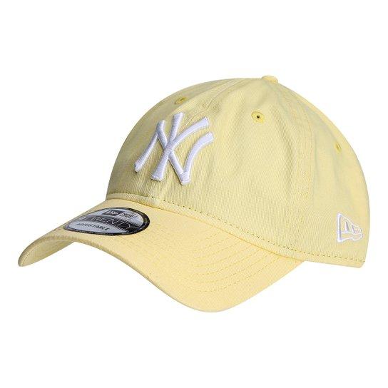 bf9e6764f0 Boné New Era MLB New York Yankees Aba Curva 920 St Pastels - Amarelo ...