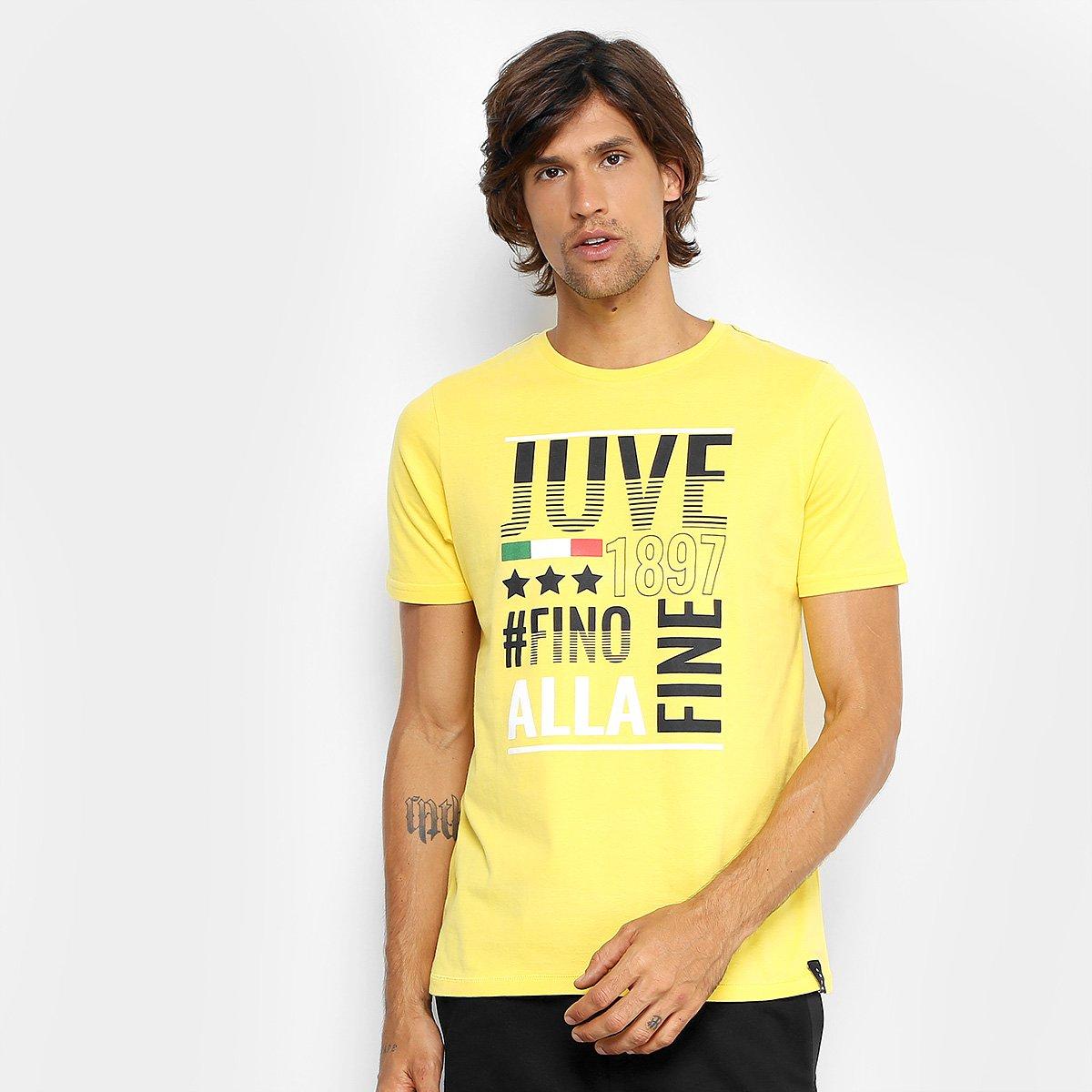 0438dcca1d566 Camiseta Juventus Fino Masculina