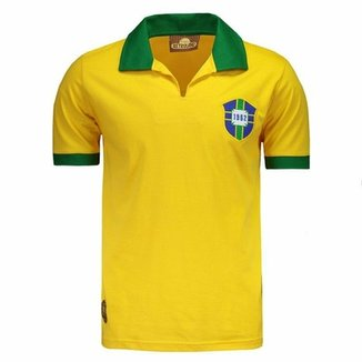 Camisa Brasil Retrô 1962 Nº 7 Masculina 4490bd091e14b