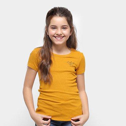 Camiseta Infantil Colcci Fun Básica Feminina