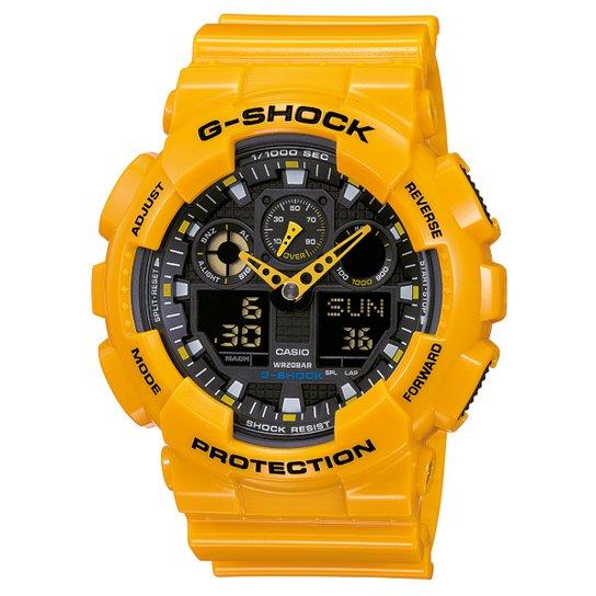 3a6a9364c53 Relógio G-Shock GA-100 - Amarelo e Preto - Compre Agora