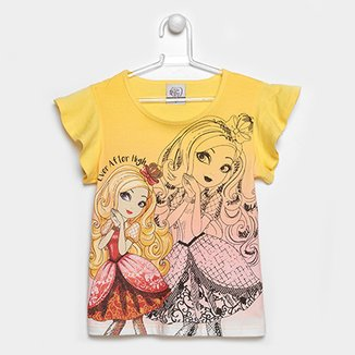 9e5842bb7 Camiseta Infantil Marlan Ever After High Feminina