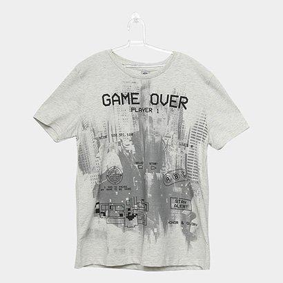 Camiseta Infantil Cativa Game Over Masculina