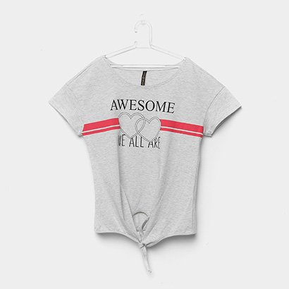 Blusa Infantil Cativa Corações Feminina