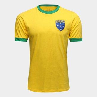 91f29ca880 Camiseta Brasil 1982 Retrô Times Masculina