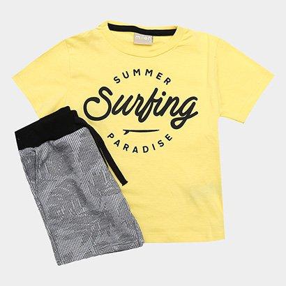 Conjunto Infantil Milon Estampa Surf Masculino