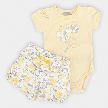 Conjunto Infantil Milon Cotton Floral Feminino