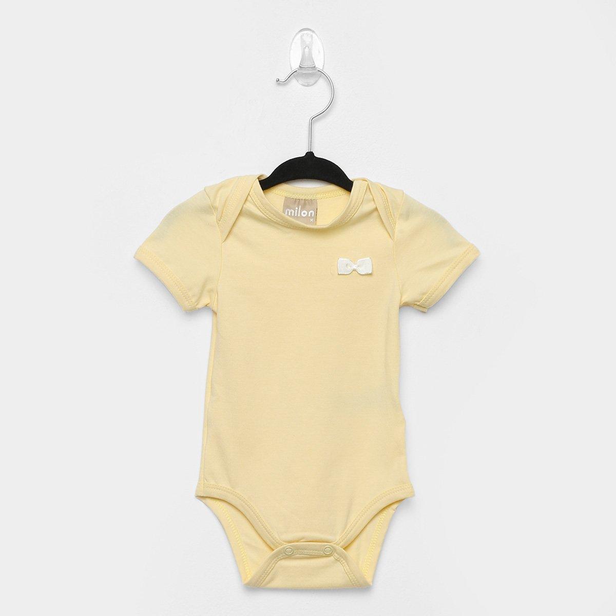 Body Bebê Milon Manga Curta Básico