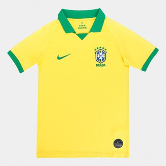 258dbf8a25 Camisa Seleção Brasil Infantil I 19/20 s/nº Nike
