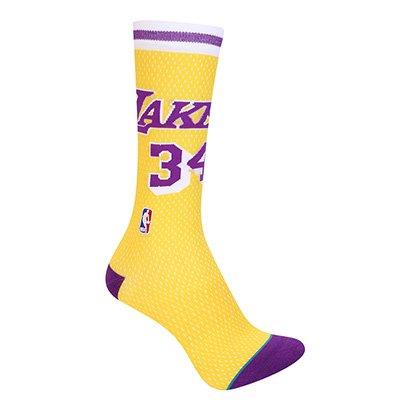 Meia Stance Cano Alto NBA Los Angeles Lakers Shaq Hwc Jersey Masculina