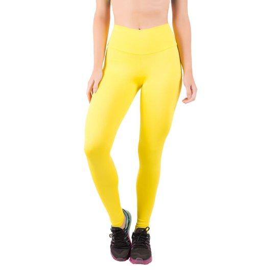 69a19320d Calça Legging Lisa Cós Alto Feminina - Amarelo | Netshoes