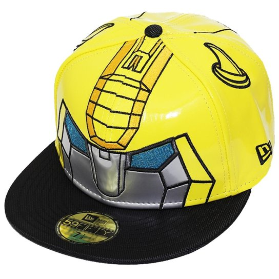 Boné New Era Aba Reta Fechado Transformers Bumblebee - Amarelo ... f694fa7e87c