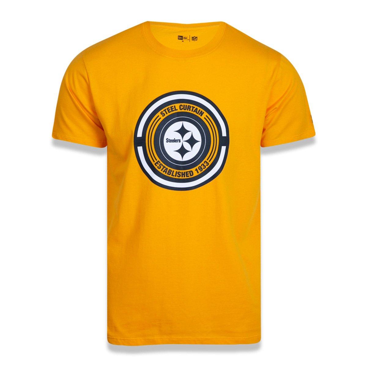 Camiseta NFL Pittsburgh Steelers New Era Extra Fresh Nation Masculina
