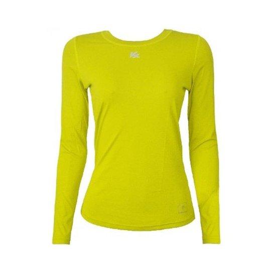 Camisa Térmica Kanxa Infantil Feminina Fator Proteção Solar Uv50 6277 -  Amarelo 8224434cd273d