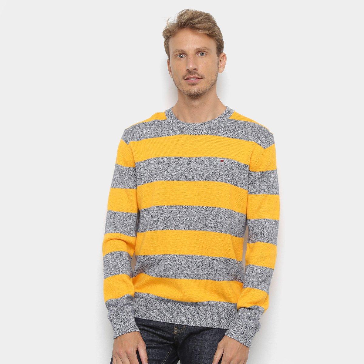 Foto 1 - Malha Tommy Jeans Rugby Stripe Sweater Masculina